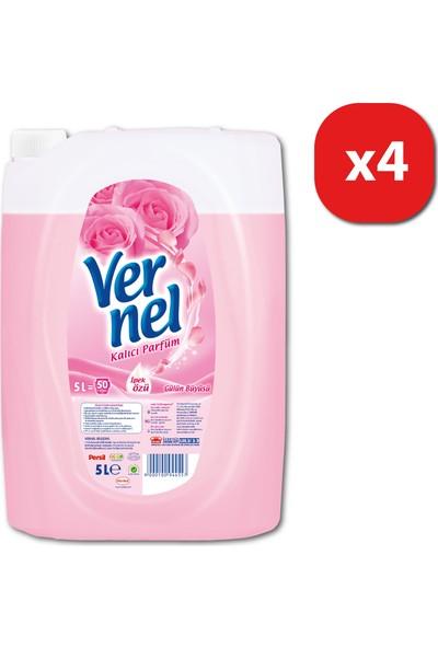 Vernel Çamaşır Yumuşatıcısı Gülün Büyüsü 5 lt 50 yıkama 4 lü Mix