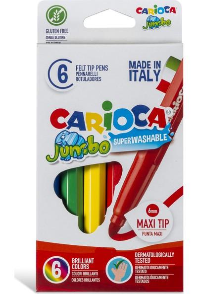 Carioca Jumbo Süper Yıkanabilir Keçeli Boya Kalemi 6'Lı
