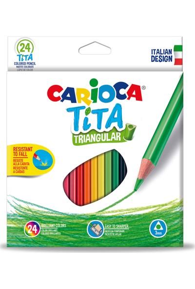 Carioca Tita Üçgen Kuru Boya Kalemi 24'Lü