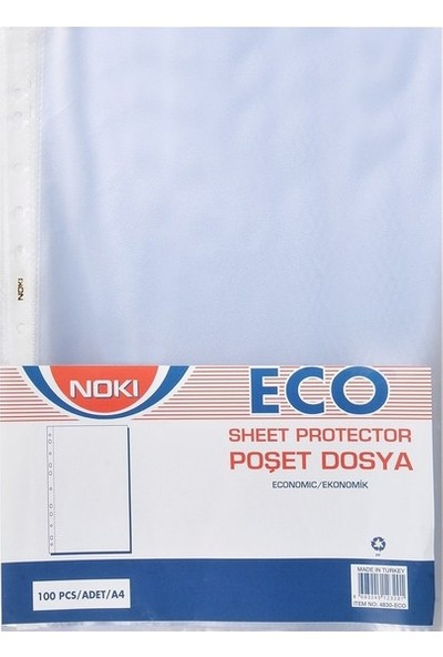 Noki Eco Poşet Dosya 100 Lü