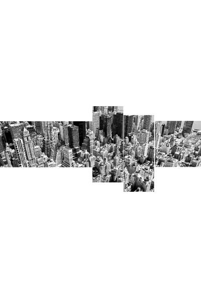 Tablo Kanvas 5 Parçalı Şehir Manzaralı Tablo