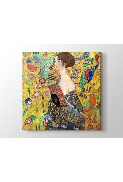 Tablo Kanvas Gustav Klimt - Lady with Fan Tablo