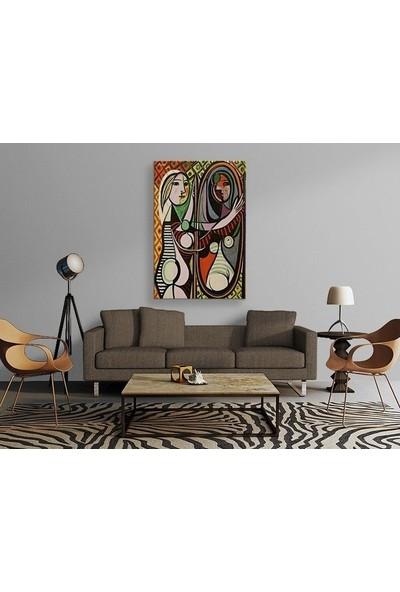 Tablo Kanvas Pablo Picasso - Girl Before A Mirror