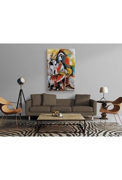 Tablo Kanvas Pablo Picasso - Musketeer and Amor Tablo