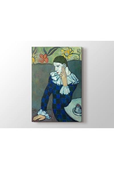 Tablo Kanvas Pablo Picasso - Seated Harlequin Tablo