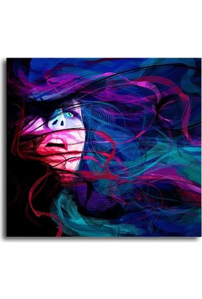 Tablo Kanvas Uçuşan Saçlı Kadın Tablo