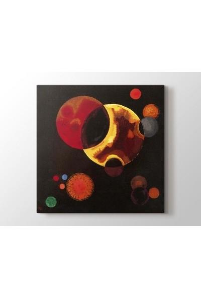 Tablo Kanvas Wassily Kandinsky - Heavy Circles Tablo