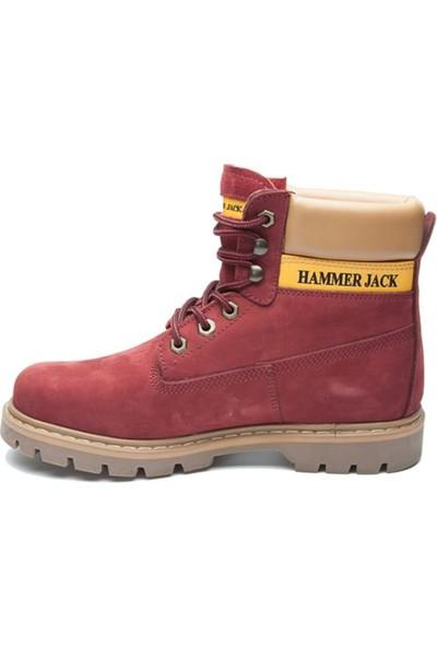 Hammer Jack Bordo Nubuk Erkek Ayakkabı 102 16600-M