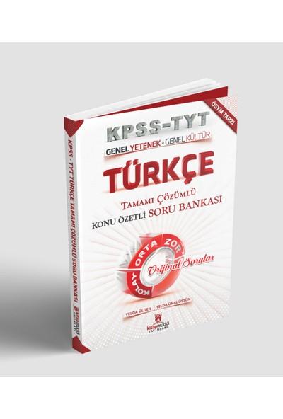 Türkçe Tamamı Çözümlü Konu Özetli Soru Bankası 2019