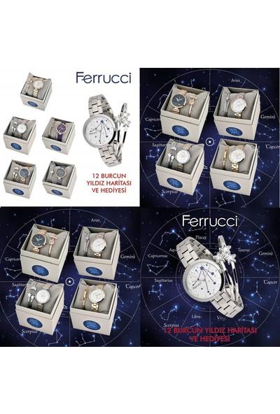 Ferrucci FC12722M.04 Başak Burcu Yıldız Haritalı Kadın Kol Saati