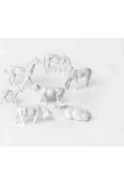 Eshel Maket Boyasız Çiftlik Hayvanlar Seti 1/200