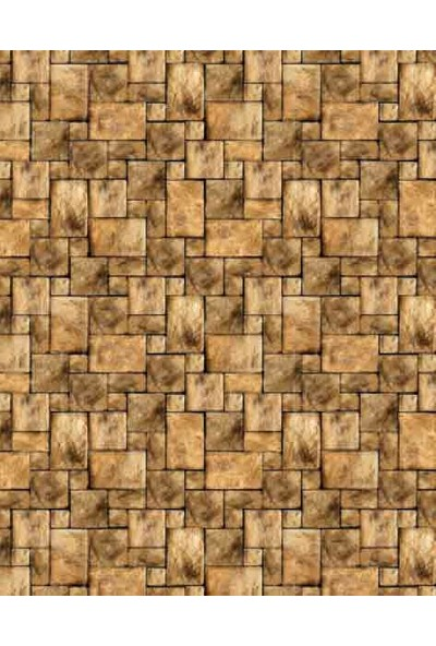 Eshel Maket Desenli Karton Duvar Kahverengi Küp Taş 1/50 - 3'lü