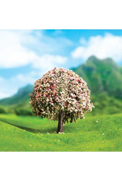 Eshel Maket Pamuk Çiçekli Ağaç 7cm - 2'li