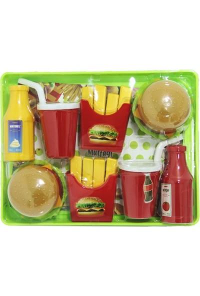 Birlik Oyuncak Vakumlu Tepside Hamburger Seti