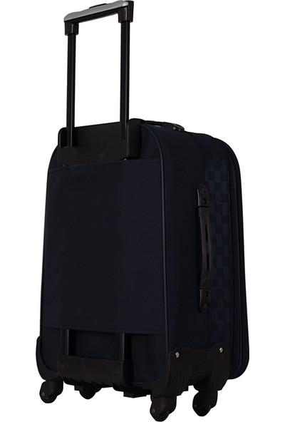 Ççs 085 Büyük Boy 5 Tekerlekli Kumaş Valiz