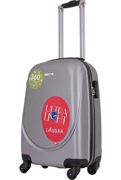 Laguna 2022-1 Pvc Gri Orta Boy Valiz Bavul