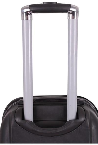 Laguna 2022-0 Pvc Siyah Küçük Valiz Bavul