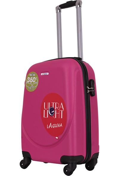 Laguna 2022-2 Pvc Pembe Büyük Boy Valiz Bavul