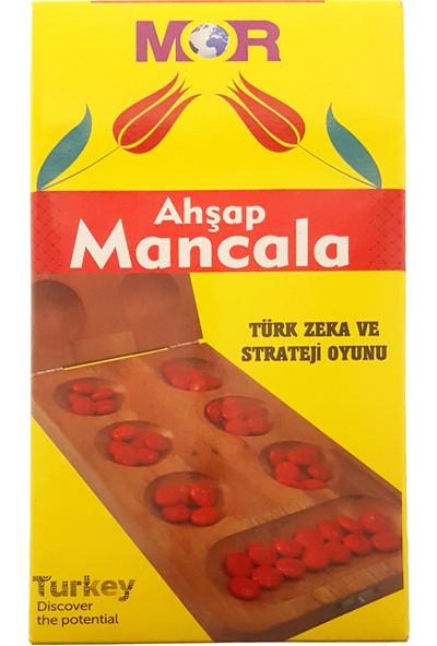 Mor Ahşap Mancala Türk Zeka ve Strateji Oyunu