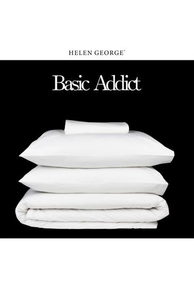 Helen George Çift Kişilik Nevresim Takımı-Basic Beyaz