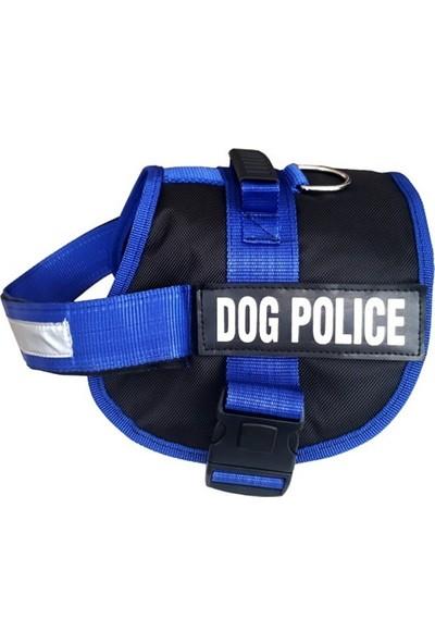 Ans Dog Police Köpek Göğüs Tasması 70/90 Cm Mavi