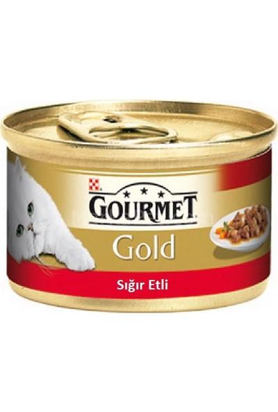 Purina Gourmet Gold Sığır Etli Soslu Kedi Konserve Mama 85Gr