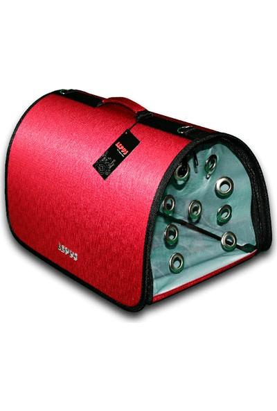 Lepus Flybag Kedi Köpek Taşıma Çantası 25*25*40 Cm Kırmızı