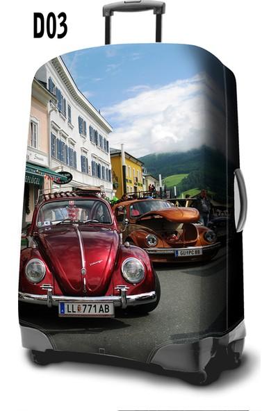 Travel-Shirt Vosvos Desenli Valiz Kılıfı A74