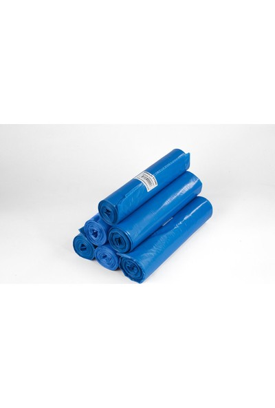 Ambalajstore Endüstriyel Çöp Poşeti Jumbo Boy Mavi 20 Rulo 80X110 cm