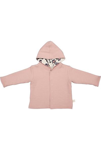 Miela Kids Kapüşonlu Ceket - Pembe