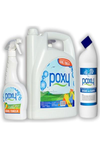 Poxy Temizlik Seti 6 Genel Temizlik + Fayans Temizleyici