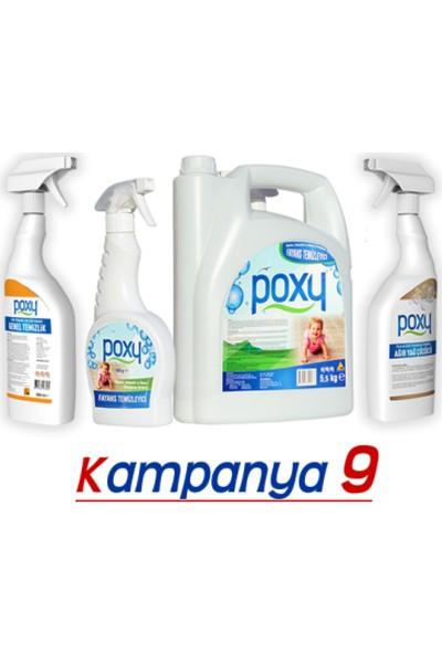 Poxy Temizlik Seti 9 Fayans Temizleyici + Genel Temizlik + Yağ Çözücü