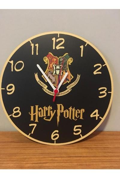 Katarsis Harry Potter 2 Temalı Baskılı Akar Saniye Ahşap Duvar Saati