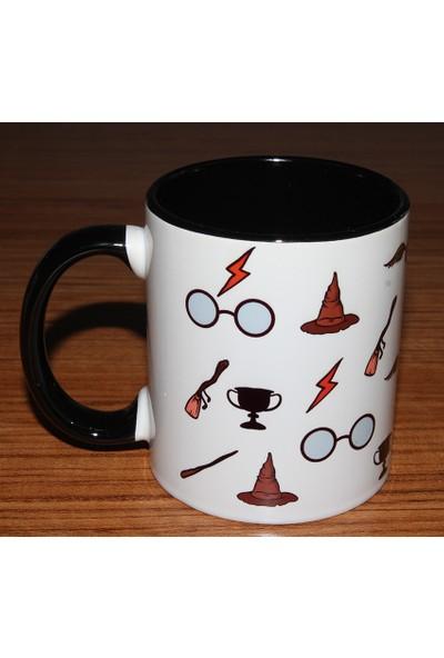 Katarsis Harry Potter Wizard Baskılı İçi Ve Kulpu Renkli Porselen Kupa