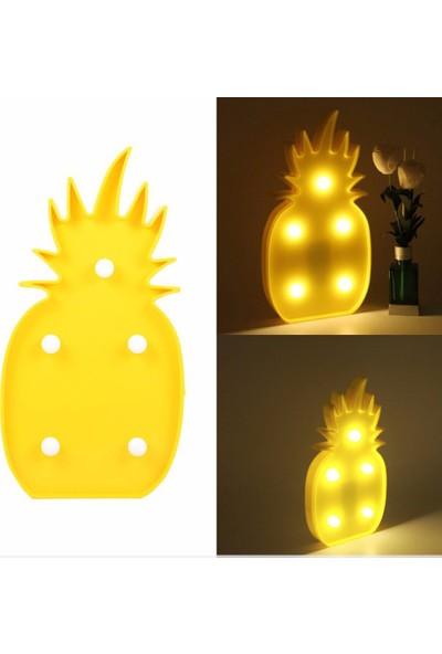 Katarsis Led Işıklı Dekoratif Ananas Gece Lambası