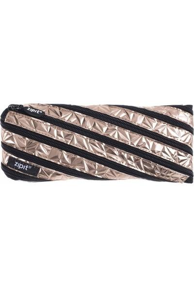 Zipit Metalik Kalem Kutusu Pembe Altın