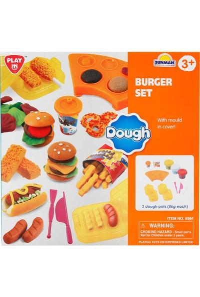 Play Go Oyun Hamur Set Burger Yapimi 3 Hamurlu