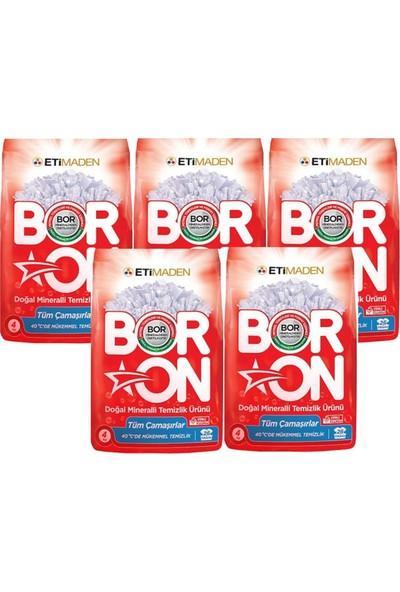 Boron Doğal Mineralli Temizlik Ürünü Tüm Çamaşırlar 4 kg x 5' li