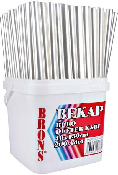 Brons Defter Kabı Rulo 40X150 Şeffaf Br-463