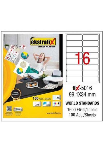 Ekstrafix Laser Etiket 99,1X34 Mm Fix-5016