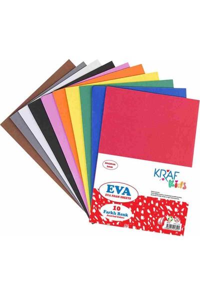 Kraf Kids Eva 20X30 2 Mm Karişik Renk 10 Lu Kk05