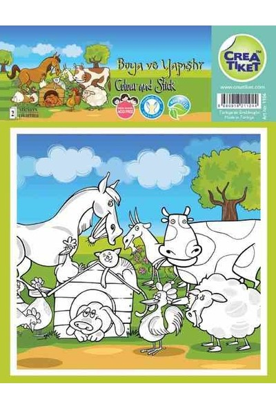 Crea Etiket Boyama Çiftlik Hayvanları Gülümse 1104
