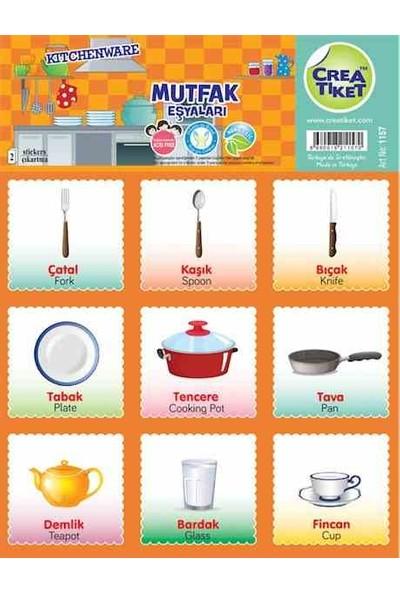Crea Etiket Eğitim İng-Tr Mutfak Eşyaları 1157