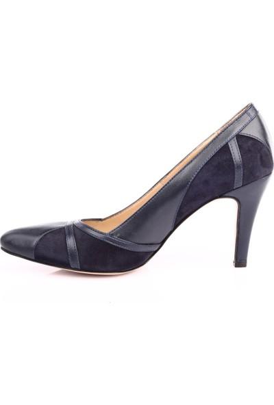 Dgn 355 Kadın Sivri Burun 11 Pont Topuklu Ayakkabı Laci Süet Laci
