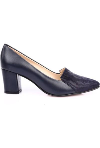 Dgn 357 Kadın Sivri Burun 9 Pont Topuklu Ayakkabı Laci Süet Laci