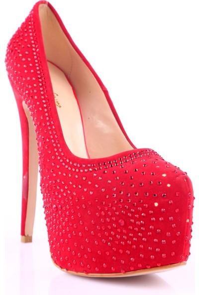 Meshure 6Y2269 Kadın Ayakkabı Int-49 Kırmızı