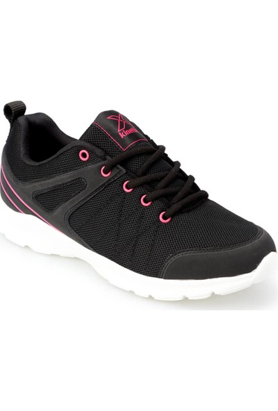 Kinetix Tina W Siyah Fuşya Kadın Koşu Ayakkabısı