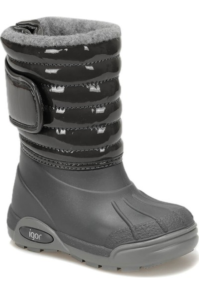 Igor W10168 Topo Ski Charol-01 Gri Unisex Çocuk Yağmur Çizmesi