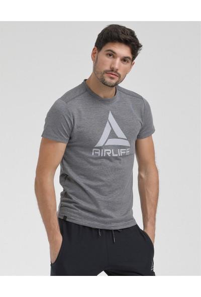 Airlife Erkek Lacivert Basic Yaka Tişört