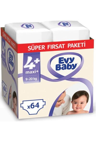 Evy Baby Bebek Bezi 4+ Beden Maxi Plus Süper Fırsat Paketi 64 Adet